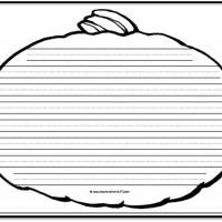 Pumpkin Writing Paper – 8 Handwriting Lines