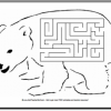 Polar Bear Printable Maze