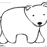 Brown Bear or Polar Bear Outline Coloring Page
