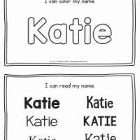 Katie – Name Printables for Handwriting Practice