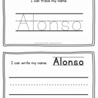 Alonso – Name Printables for Handwriting Practice