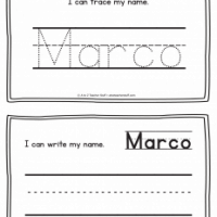 Marc – Name Printables for Handwriting Practice