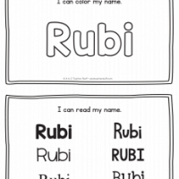 Rubi – Name Printables for Handwriting Practice