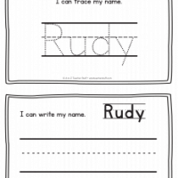 Rudy – Name Printables for Handwriting Practice