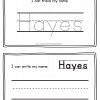 Hayes – Name Printables for Handwriting Practice