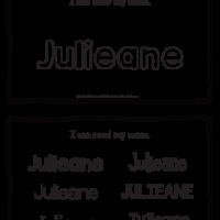 Julieane – Name Printables for Handwriting Practice