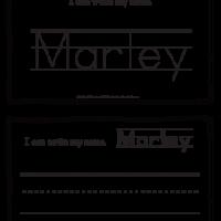 Marley – Name Printables for Handwriting Practice