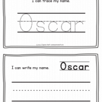 Oscar – Name Printables for Handwriting Practice