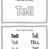 Tell – Name Printables for Handwriting Practice