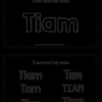 Tiam – Name Printables for Handwriting Practice