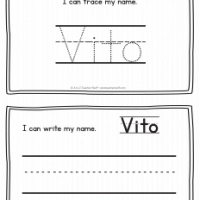 Vito – Name Printables for Handwriting Practice