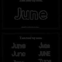 June – Name Printables for Handwriting Practice