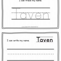 Taven – Name Printables for Handwriting Practice