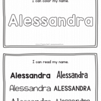 Alessandra – Name Printables for Handwriting Practice