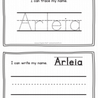 Arleia – Name Printables for Handwriting Practice