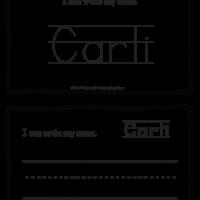Carli – Name Printables for Handwriting Practice