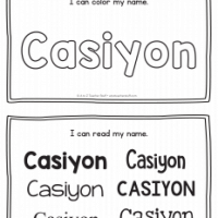 Casiyon – Name Printables for Handwriting Practice