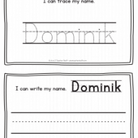 Dominik – Name Printables for Handwriting Practice