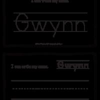 Gwynn – Name Printables for Handwriting Practice