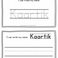 Kaartik – Name Printables for Handwriting Practice
