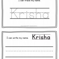 Krisha – Name Printables for Handwriting Practice