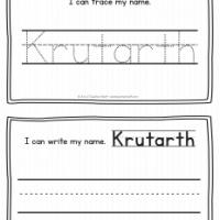 Krutarth – Name Printables for Handwriting Practice
