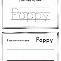 Poppy – Name Printables for Handwriting Practice