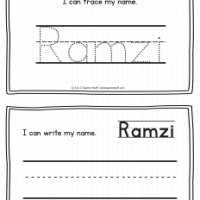 Ramzi – Name Printables for Handwriting Practice