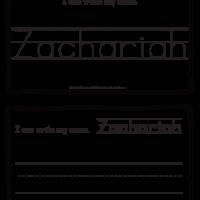 Zachariah – Name Printables for Handwriting Practice