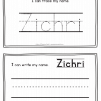 Zichri – Name Printables for Handwriting Practice