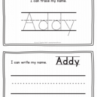 Addy – Name Printables for Handwriting Practice