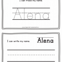 Alena – Name Printables for Handwriting Practice