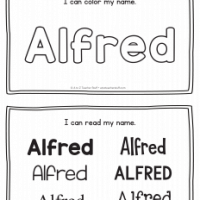 Alfred – Name Printables for Handwriting Practice