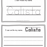 Calista – Name Printables for Handwriting Practice
