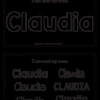 Claudia – Name Printables for Handwriting Practice