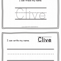 Clive – Name Printables for Handwriting Practice