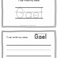 Gael – Name Printables for Handwriting Practice