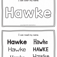 Hawke – Name Printables for Handwriting Practice