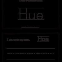 Hue – Name Printables for Handwriting Practice