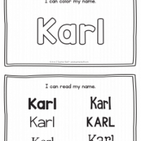 Karl – Name Printables for Handwriting Practice
