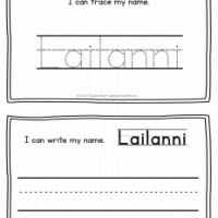 Lailanni – Name Printables for Handwriting Practice