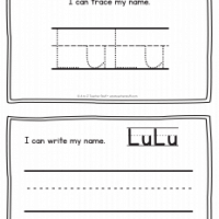 LuLu – Name Printables for Handwriting Practice
