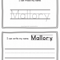 Mallory – Name Printables for Handwriting Practice