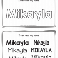 Mikayla – Name Printables for Handwriting Practice