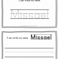 Missael – Name Printables for Handwriting Practice