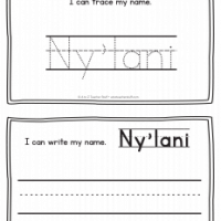 Ny'lani – Name Printables for Handwriting Practice