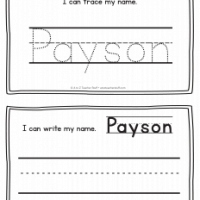 Payson – Name Printables for Handwriting Practice