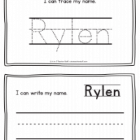 Rylen – Name Printables for Handwriting Practice
