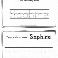 Saphire – Name Printables for Handwriting Practice