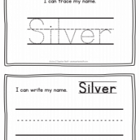 Silver – Name Printables for Handwriting Practice